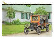 Old Model T Ford In Front Of House Carry-all Pouch
