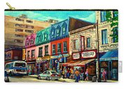 Old Montreal Schwartzs Deli Plateau Montreal City Scenes Carry-all Pouch