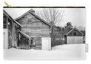 Old New England Barns In Winter Carry-all Pouch