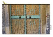 Old Ornate Wrought Iron Door In Venice, Italy  Carry-all Pouch