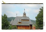 Old Orthodox Wooden Church On Hill Carry-all Pouch