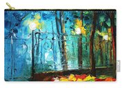 Old Park 2 - Palette Knife Oil Painting On Canvas By Leonid Afremov Carry-all Pouch