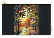 Old Park 3 - Palette Knife Oil Painting On Canvas By Leonid Afremov Carry-all Pouch
