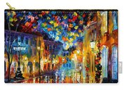 Old Part Of Town - Palette Knife Oil Painting On Canvas By Leonid Afremov Carry-all Pouch