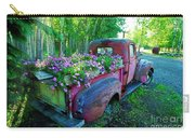 Old Pickup Truck As Flower Bed Carry-all Pouch
