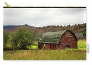 Old Red Adirondack Barn Carry-all Pouch by Nancy De Flon