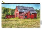 Old Red Barn Abandoned Farm Vermont Carry-all Pouch