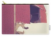 Old Red Barn In Winter Carry-all Pouch