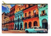 Old Retro Car In Havana Carry-all Pouch