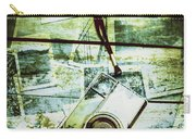 Old Retro Film Camera In Creative Composition Carry-all Pouch