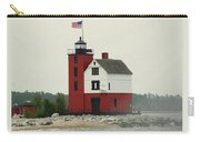 Old Round Island Point Lighthouse Michigan Carry-all Pouch