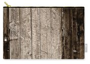 Old Rustic Black And White Barn Woord Door Carry-all Pouch
