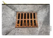 Old Rusty Street Grate Near The Sea In Cres Carry-all Pouch
