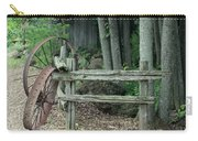 Old Rusty Wagon Wheels And Weathered Fence Carry-all Pouch