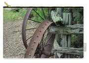 Old Rusty Wagon Wheels Carry-all Pouch