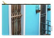 Old San Juan House In Historic Street In Puerto Rico Carry-all Pouch