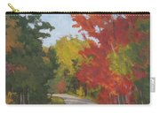 Old Scoolhouse Road Fall - Art By Bill Tomsa Carry-all Pouch