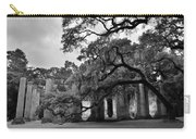 Old Sheldon Church Ruins Black And White 3 Carry-all Pouch