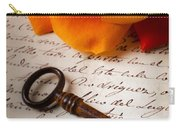 Old Skeleton Key On Letter Carry-all Pouch