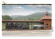 Old Steam Locomotive On Railway Station Carry-all Pouch