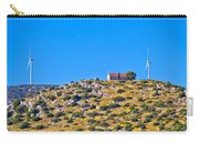 Old Stone Church And Green Energy Plant Carry-all Pouch
