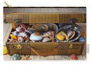 Old Suitcase Full Of Sea Shells Carry-all Pouch by Garry Gay