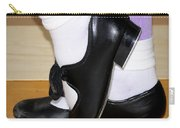 Old Tap Dance Shoes With White Socks And Wooden Floor Carry-all Pouch