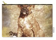 Old Time Boxer Portrait Carry-all Pouch by Angie Tirado
