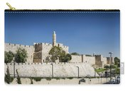 Old Town Citadel Walls Of Jerusalem Israel Carry-all Pouch