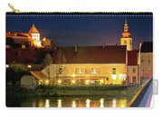 Old Town Of Ptuj Evening Riverfront View Carry-all Pouch