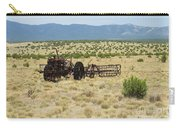 Old Tractor And Rake In New Mexico Carry-all Pouch