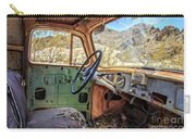 Old Truck Interior Nevada Desert Carry-all Pouch by Edward Fielding