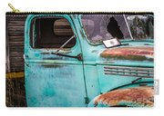 Old Turquoise Truck Carry-all Pouch