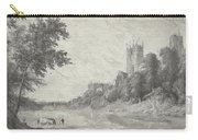 Old View Of Durham Cathedral Carry-all Pouch