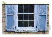 Old Village Window With Blue Shutters Carry-all Pouch