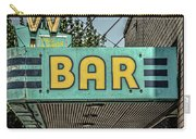 Old Vintage Bar Neon Sign Livingston Montana Carry-all Pouch