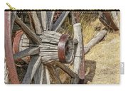 Old Wagon Wheels From Montana Carry-all Pouch