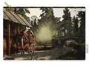 Old Watermill In The Forest Carry-all Pouch