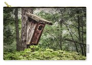 Old Weathered Worn Bird House In Summer Carry-all Pouch