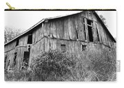 Old West Virginia Barn Black And White Carry-all Pouch