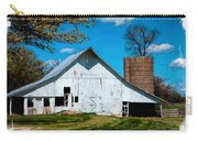 Old White Barn With Treed Silo Carry-all Pouch