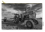 Old White Tractor In The Field Carry-all Pouch