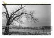 Old Winter Tree Grayscale Carry-all Pouch