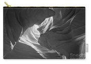 Old Woman In The Canyon Black And White Carry-all Pouch