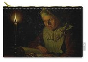 Old Woman Reading, Adriaan Meulemans, 1800 - 1833 Carry-all Pouch