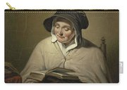 Old Woman Reading, Cornelis Kruseman, 1820 - 1833 Carry-all Pouch
