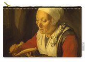 Old Woman Unreeling Threads 1665 Carry-all Pouch