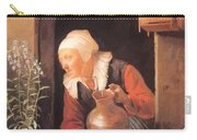 Old Woman Watering Flowers 1665 Carry-all Pouch