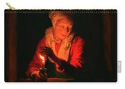 Old Woman With A Candle Carry-all Pouch