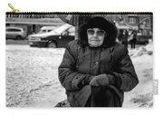 Old Women Selling Woollen Socks On The Street Monochrome Carry-all Pouch